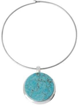 Robert Lee Morris Soho Semiprecious Turquoise Pendant Necklace
