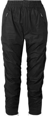 Isabel Marant Marston Ruched Cotton-gabardine Tapered Pants - Black
