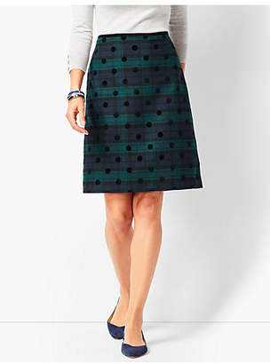 Talbots Black Watch Plaid A-Line Skirt