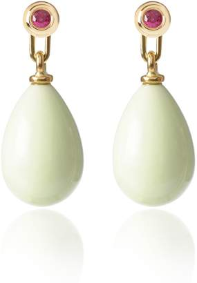 McFarlane Fine Jewellery - Ruby & Lemon Chrysoprase Earrings Medium