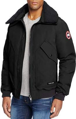 Canada Goose Bromley Aviator Shearling Collar Down Jacket $850 thestylecure.com