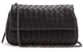 Bottega Veneta Intrecciato Mini Leather Cross Body Bag - Womens - Black