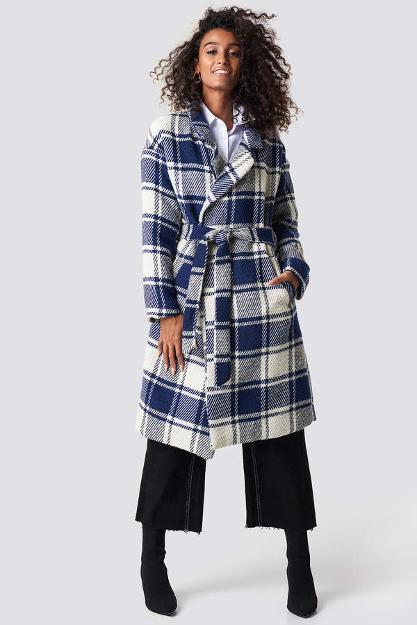 Checked Blue Coat Blue Check