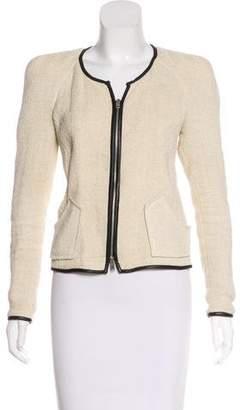 Isabel Marant Leather-Trimmed Structured Jacket