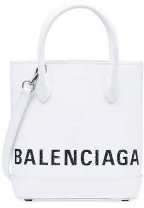 Balenciaga Ville XXS AJ Leather Crossbody Tote Bag - Silver Hardware