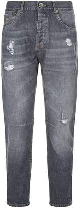 Brunello Cucinelli Distressed Straight Leg Jeans