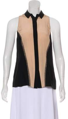 Jason Wu Sleeveless Silk Button-Up