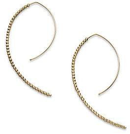 Mizuki Women's 14K Yellow Gold Marquis-Shaped Earrings/2""
