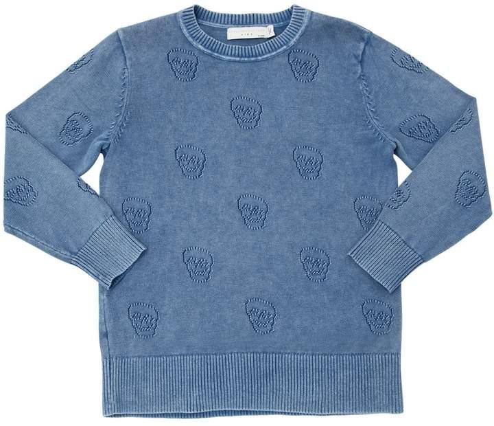 Skulls Organic Cotton Knit Sweater