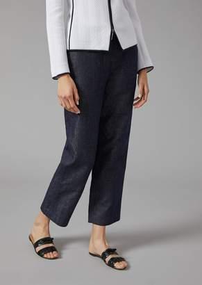 Giorgio Armani Trousers In Denim Canvas