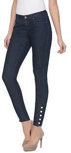 Women's Jennifer Lopez Skinny Button Ankle Jeans $58 thestylecure.com