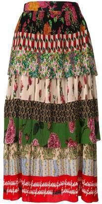 Gucci Acid Bloom print plissé skirt