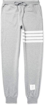 Tapered Striped Loopback Cotton-Jersey Sweatpants $570 thestylecure.com