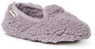 Dearfoams Fluffy Pile Closed Back Womens Slip-On Slippers