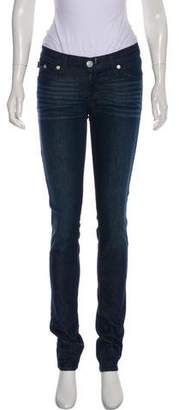 Rock & Republic Embroidered Skinny Jeans