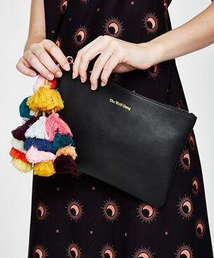 The Wolfgang Bedouin Clutch Noir Leather