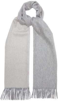 Co BEGG & Geometric two-tone cashmere scarf