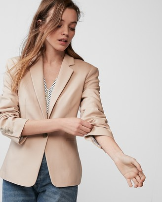 Express Notch Collar One Button Blazer