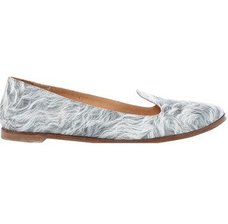 Maison Margiela Grey Leather Flats