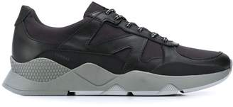 Canali panelled lace-up sneakers