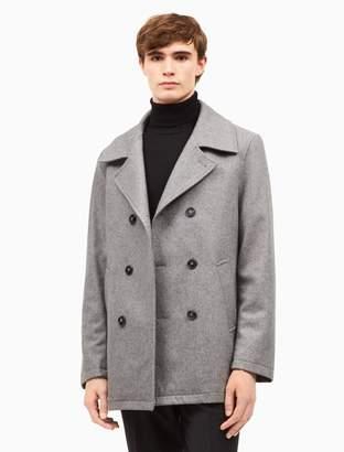 Calvin Klein wool blend light grey peacoat