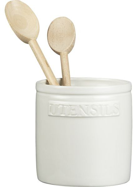 Crate & Barrel Homestead Utensil Crock.