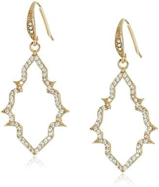 "Carolee Floral Lace-Bridal/Prom"" Tone Open Frame Pierced Drop Earrings"