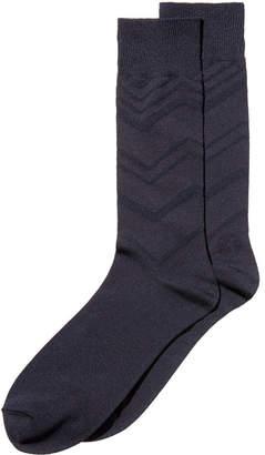 Perry Ellis Men's Luxury Textured Dress Socks