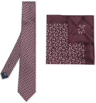 Lanvin pocket square and tie set