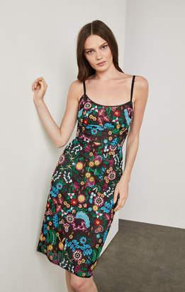 BCBGMAXAZRIA Floral Embroidered Bustier Dress