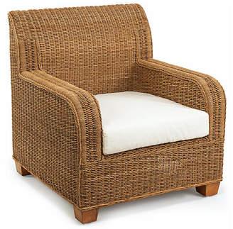 One Kings Lane Beachcomber Wicker Club Chair - Natural