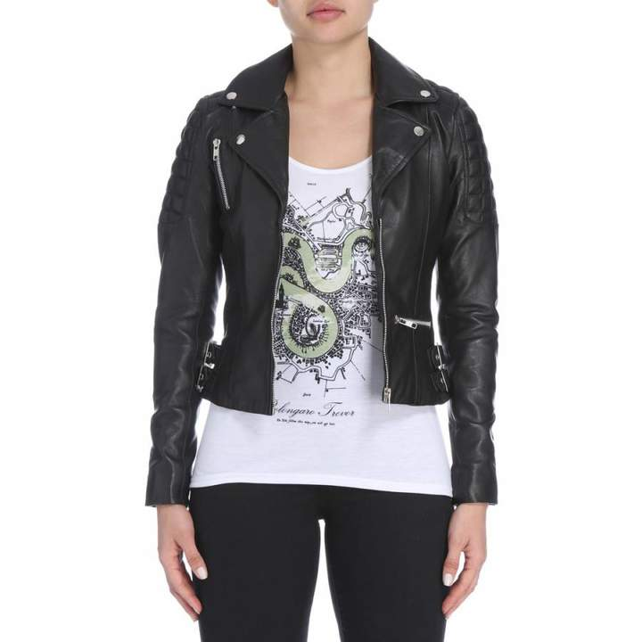 Black Quilted Rider Jacket