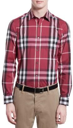 Men's Burberry Nelson Check Sport Shirt $325 thestylecure.com