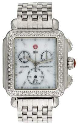 Michele Deco Diamond Chronograph Watch