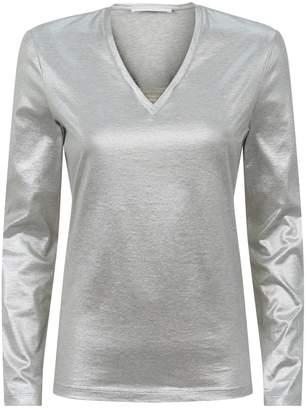 Fabiana Filippi Metallic Chain Trim T-Shirt