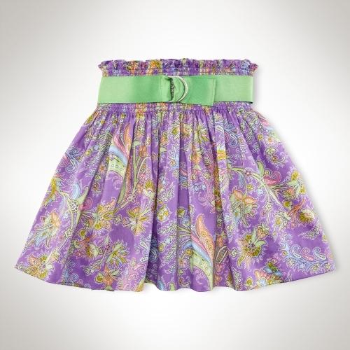 Belted Smocked Skirt