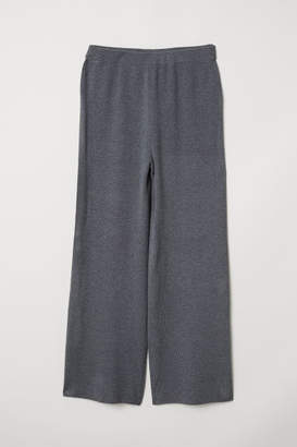 H&M Fine-knit Pants - Gray
