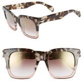 Rag & Bone 51mm Polarized Mirrored Square Sunglasses