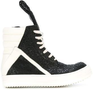 Rick Owens 'Geo Basket' sneakers $1,122 thestylecure.com