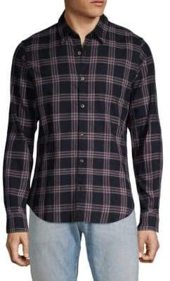 Dries Van Noten Plaid Button-Down Shirt