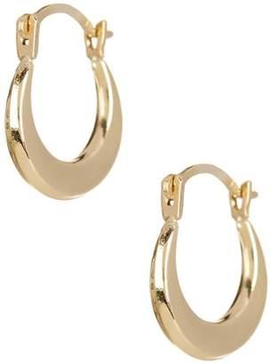 Candela 14K Yellow Gold 8mm Puffed Hoop Earrings