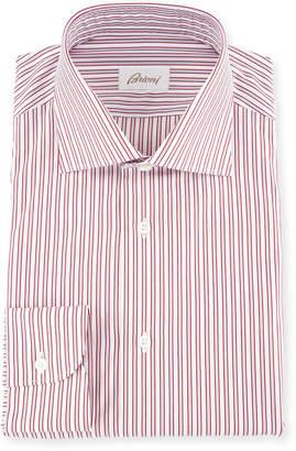Brioni Two-Tone Striped Dress Shirt