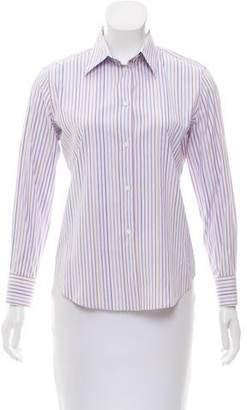Loro Piana Striped Button-Up Top