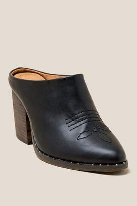 Lust For Life L4L Hoax Western Slip On Mule - Black