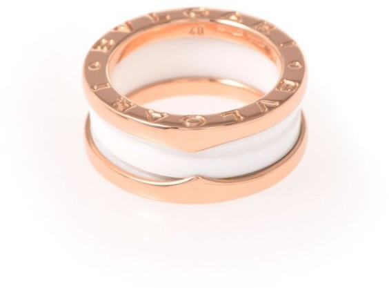 Bvlgari  Bulgari B-Zero1 18K Rose Gold Band Ring Size 4.5