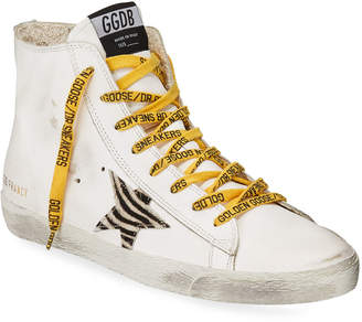 Golden Goose Zebra-Print Superstar High-Top Sneakers
