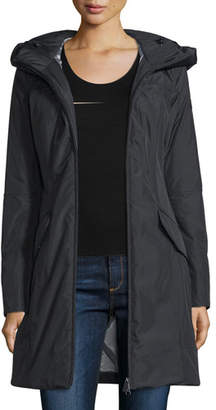Peuterey Hooded Zip-Front Parka, Nero $925 thestylecure.com