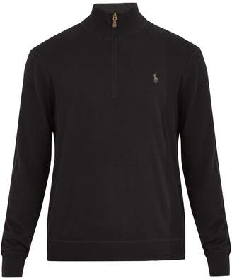 Polo Ralph Lauren Half-zip logo-embroidered cashmere sweater