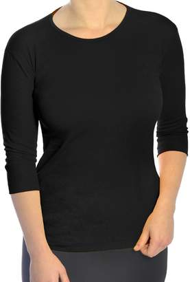 Kosher Casual Women's Modest 3/4 Sleeve 100% Cotton Fine Ribbed Tee Shirt Top
