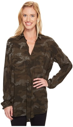 Hard Tail - Long Sleeve Maxi Shirt Women's Long Sleeve Pullover $95 thestylecure.com